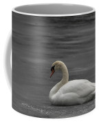 Mute Swan On Ice Coffee Mug