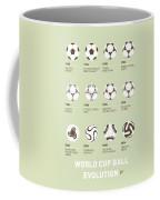 My Evolution Soccer Ball Minimal Poster Coffee Mug by Chungkong Art