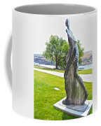 My Favorite View Of Metal Sculpture In Front Of Maryhill Museum Of Art-wa Coffee Mug