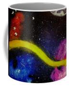 My Galaxy In Blue Cross Process Coffee Mug