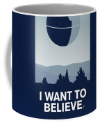 My I Want To Believe Minimal Poster-deathstar Coffee Mug