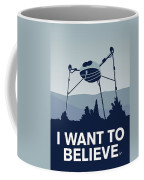 My I Want To Believe Minimal Poster-war-of-the-worlds Coffee Mug