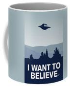 My I Want To Believe Minimal Poster-xfiles Coffee Mug by Chungkong Art