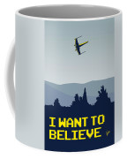 My I Want To Believe Minimal Poster- Xwing Coffee Mug by Chungkong Art