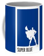 My Superhero 03 Super Blue Minimal Poster Coffee Mug
