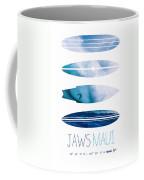 My Surfspots Poster-1-jaws-maui Coffee Mug by Chungkong Art