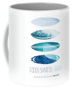 My Surfspots Poster-6-todos-santos-baja Coffee Mug by Chungkong Art