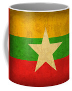Myanmar Burma Flag Vintage Distressed Finish Coffee Mug