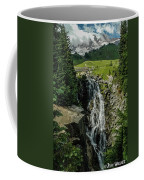 Myrtle Falls In Front Of Mt. Rainier Coffee Mug