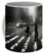 Mysterious Business Men In New York City Crosswalk Coffee Mug by Amy Cicconi