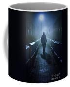 Mysterious Man In Fog At Night Coffee Mug