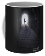 Mysterious Man Running Out Of A Tunnel Coffee Mug