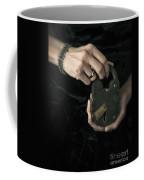 Mysterious Woman With Lock Coffee Mug by Edward Fielding
