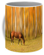 Mystic Autumn Grazing Horse Coffee Mug