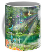 Mystic Foggy Forest Coffee Mug by Alixandra Mullins