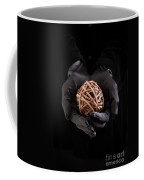 Mystical Hands Holding A Woven Ball Coffee Mug