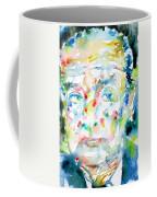 Nabokov Vladimir - Watercolor Portrait Coffee Mug