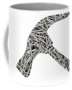Nails Forming Shape Of Hammer Coffee Mug
