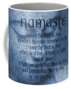 Namaste Blue Coffee Mug