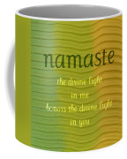 Namaste Coffee Mug by Michelle Calkins