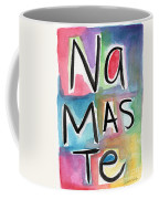 Namaste Watercolor Coffee Mug by Linda Woods