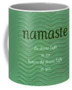 Namaste With Blue Waves Coffee Mug