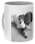 Napping Greyhounds Coffee Mug by Kate Sumners