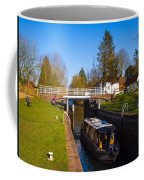 Narrowboat In Lock Coffee Mug