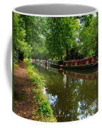 Narrowboats Moored On The Wey Navigation In Surrey Coffee Mug by Louise Heusinkveld