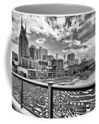 Nashville From The Shelby Bridge Coffee Mug