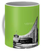 Nashville Skyline Country Music Hall Of Fame - Olive Coffee Mug