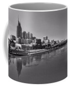 Nashville Skyline In Black And White At Day Coffee Mug
