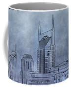 Nashville Skyline Sketch Coffee Mug