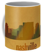 Nashville Tennessee Skyline Watercolor On Parchment Coffee Mug