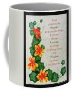 Nasturtiums And Serenity Prayer Coffee Mug