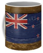 New Zealand National Flag On Wood Coffee Mug