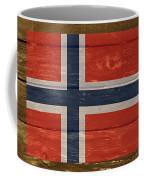 Norway National Flag On Wood Coffee Mug