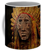 Native American In Wood 1886 Coffee Mug