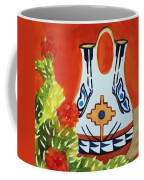 Native American Wedding Vase And Cactus-square Format Coffee Mug