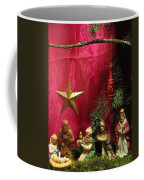 Nativity Scene In Red Coffee Mug