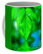 Natural Leaves Background Coffee Mug