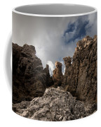 A Stunning Rock Wall Becomes A Wild Nature Sculpture In North Coast Of Minorca Europe Coffee Mug