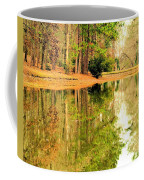 Nature's Green And Gold Coffee Mug