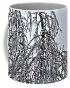 Natures Ice Sketch Abstract Coffee Mug