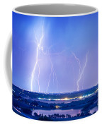 Natures Light Show Over The Boulder Reservoir  Coffee Mug by James BO  Insogna