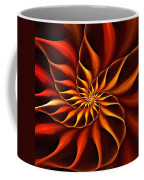 Nautilus Fractalus Fire Coffee Mug