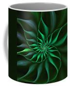 Nautilus Fractalus Verdant Green Coffee Mug