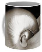 Nautilus Shell Sepia Coffee Mug