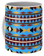 Navajo Blue Pattern Coffee Mug