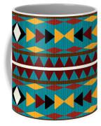 Navajo Teal Pattern Coffee Mug
